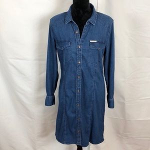 Calvin Klein Blue Jean Denim Dress, Sz Large